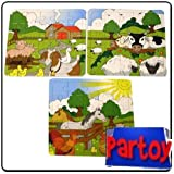 12 x Farmyard Puzzles - Party Bag Fillers