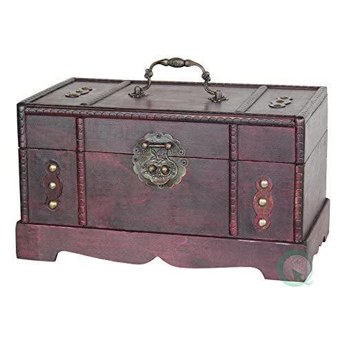 Antique Wooden Trunk, Old Treasure Chest