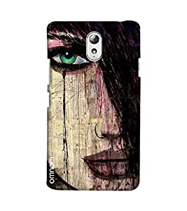 Omnam Girl Closeup With Hairs Printed Designer Back Cover Case For Lenovo Vibe P1 M