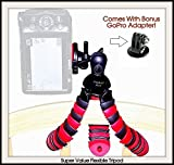 Product Ace (TM) All You Need For Your Sports Action Phones & GoPro Camera, Specialty Accessory Kits. (3pc Super Strength Flexible Tripod & GoPro Adapter & Bonus Silky Product Ace Silky Lingerie Microfiber Cleaning Cloth)