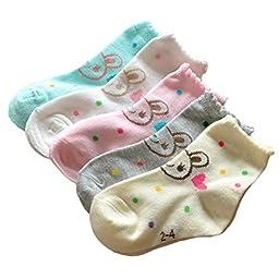 Nanxson(TM) 10-pack Baby Infant Kids Cute Cotton All Season Socks WZETWB0003 (2-4)