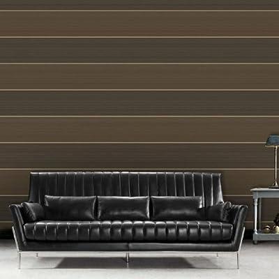 Metric' Stripe wallpaper in Brown (Full Roll) by wallpaper heaven