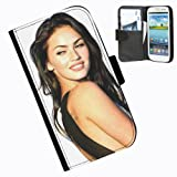Hairyworm-Megan Fox Samsung Galaxy S3 Mini leather side flip wallet case case for Samsung Galaxy S3 Mini phone