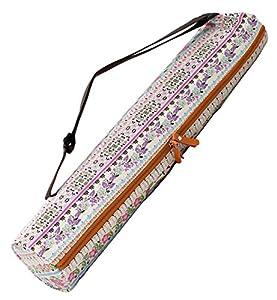 Sac «#» sunita de doYourYoga en canevas (toile), belles finitions pour tapis large tapis de yoga gymnastique et de jusqu'à une épaisseur de 186 x 63 x 0.6 cm, impression-différents designs disponibles. Rosa Muster