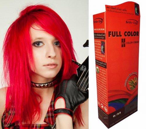 teinture-coloration-cheveux-permanente-goth-emo-elfe-cosplay-rouge-feu-vif