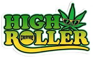 Creature Skateboard Sticker - High Roller weed cannabis skunk marijuana smoke