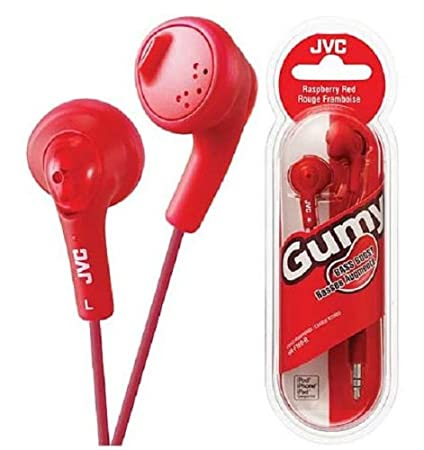 JVC HAF160R Gumy Ear Bud Headphone Red