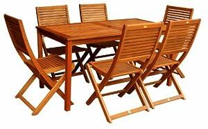 Luunguyen Alice 7 Piece Hardwood Outdoor Furniture