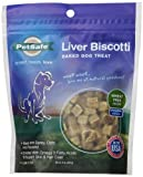 Petsafe Liver Biscotti Dog Treats, Wheat/Egg Free Recipe, Original Bite Size, 8oz. Bag