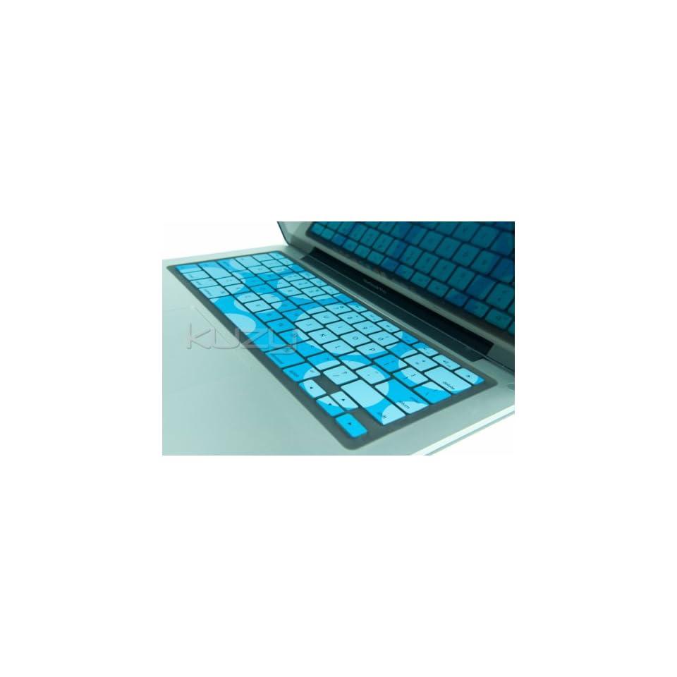 Kuzy   Circles Aqua/Blue Keyboard Silicone Cover Skin for MacBook / MacBook Pro 13 15 17 Aluminum Unibody (fits MacBook with or w/out Retina Display) MacBook Air 13