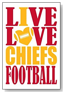 Live Love I Heart Chiefs Football lined journal - any occasion gift idea for Kansas City Chiefs fans from WriteDrawDesign.com