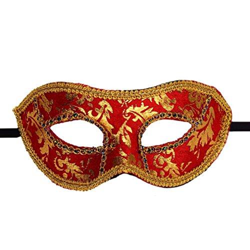 LOVELYIVA NEW FashionVenetian Masquerade Halloween Mask (Red)