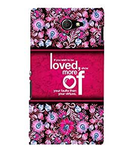 Wish To Be Loved 3D Hard Polycarbonate Designer Back Case Cover for Sony Xperia M2 Dual D2302 :: Sony Xperia M2