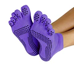 Buy ProSource Yoga Socks Full Toe with Grips S M by ProSource Discounts, Inc.