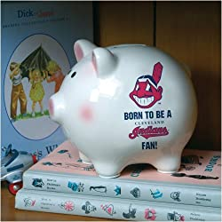 Cleveland Indians Memory Company Born to Be Piggy Bank MLB Baseball Fan Shop Sports Team Merchandise