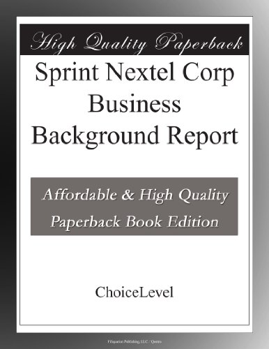 sprint-nextel-corp-business-background-report