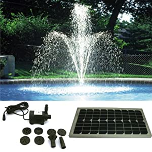 Pk Green Solar Powered Fountain Pond Pump Water Feature 4m Tube Head Garden
