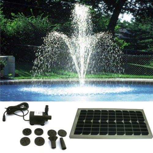 PK Green - Solar Powered Fountain Pond Pump Water Feature 4m Tube Head