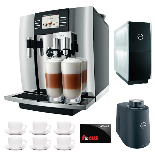 Jura Giga 5 13623 Cappuccino & Latte Macchiato System + $50 Focus Gift Card + Jura Cup Warmer Black Stainless Steel And Jura Cool Control Milk Cooler + Accessory Kit front-531194