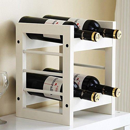 Support de mode vin continental simple beau blanc quatre-bouteille vin rack/simple élégance