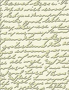 Cuttlebug 371152 A2 Embossing Folder, Textured Script