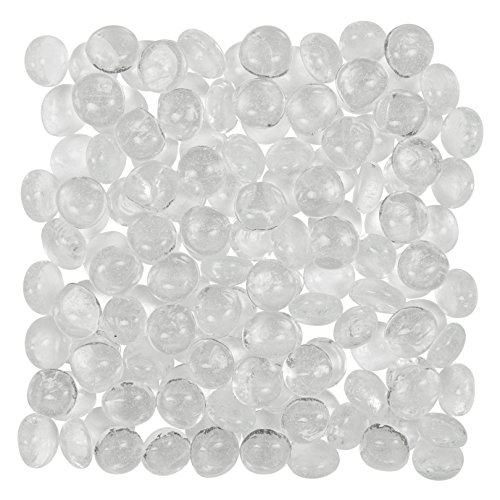 Clear Glass Gems (5 Lbs. 700 Count) - FILLS 1 ½ Quarts Vol. - Non-Toxic Lead Free Vase Filler, Table Scatter, Aquarium Filler - Beautiful, Smooth, Fun, Vibrant Colors by Artisan.Supply (Smooth Gem Rocks compare prices)