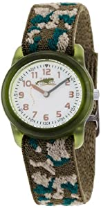 Timex Kids' T78141 Analog Camo Elastic Fabric Strap Watch