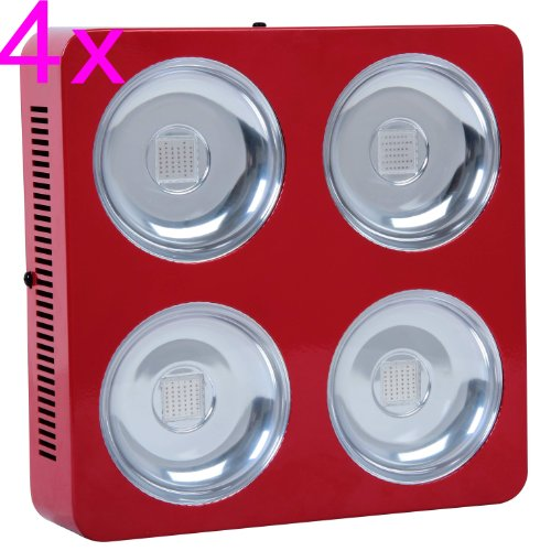 Goledgo 4Pcs Lot ($380/Pc+$0.0 Shipping) Square 200W Cob Led Plant Grow Light R/B/W Ac85-265V, Handing(0-5Days)+4Days Ship 2 U From Factory By Dhl