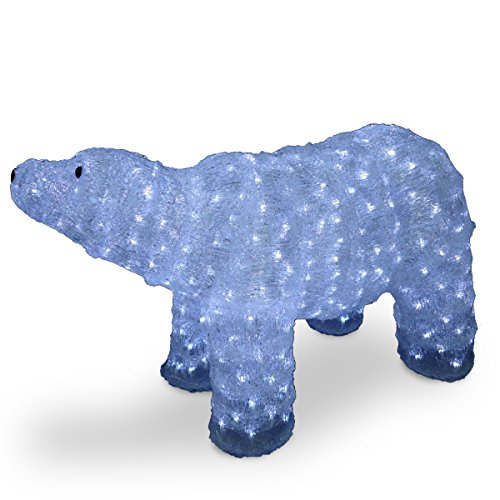 National Tree Acrylic Mother Bear With 400 Led Lights, 20-Inch