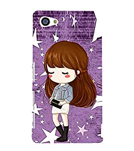 Cute Girl with Purse 3D Hard Polycarbonate Designer Back Case Cover for Sony Xperia Z5 Premium :: Sony Xperia Z5 Premium Dual