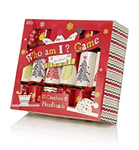 12 'Who Am I' Game Christmas Crackers