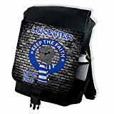 Personalised Leicester Retro Keep the faith Football Backpack School Rucksack Overnight P.E Laptop Bag ** Add a Name** Gift