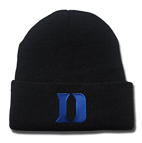Duke Blue Devils Logo Beanie Fashion Unisex Embroidery Beanies Skullies Knitted Hats Skull Caps (Duke Blue Devils Womens Apparel compare prices)