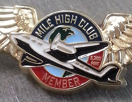 MILE HIGH CLUB MEMBER WINGS LAPEL PIN member
