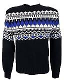 Polo Ralph Lauren Mens Fair Isle Cashmere Angora Crew-Neck Sweater