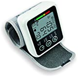 Modovo Blood Pressure Monitor Wrist Unit Electronic Manometer with Voice-Guided Operation