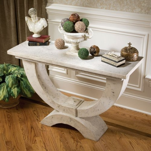 Cheap 32″ Classic French Moderno Arch of Stone Luxury Table Console (NE70603)