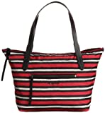 Cole Haan Parker Nylon Small Zip Top Shopper (Tango Red Snake Print)