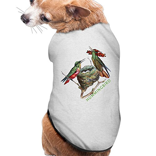 Dog Clothes Hummingbird Pet Clothing Sweatshirts Beautiful Art 100% Polyester Fiber Dog Collars Dog Shirt