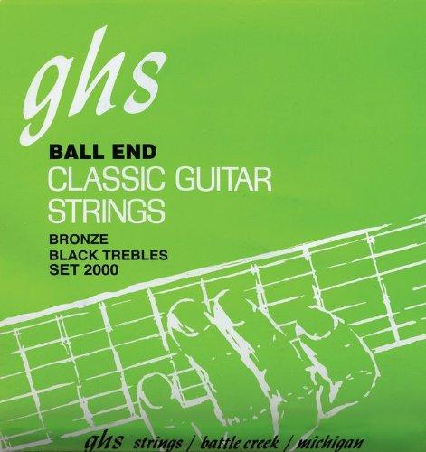 GHS Strings Classical Guitar Set (Black Nylon, Phosphor Bronze Wound Strings, Tie End)