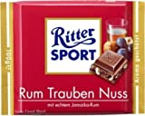 German Ritter Sport Chocolate Raisin Nut - 5 x 100 g
