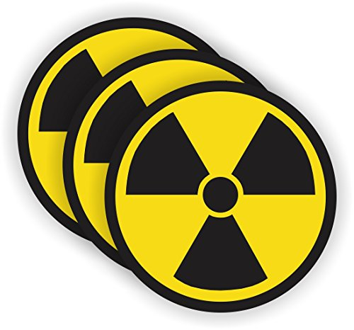 Radiation Symbol Hard Hat Sticker / Helmet Decal Label Lunch Tool Box (Radiation Sticker compare prices)