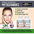 #1 Rated Phytoceramides with Vitamin A,C,D & E|Two Bottle Pack|Best Supplement for Anti-Aging Skin, Hair, Nails Rejuvenation| All Natural Rice Based Ceramides 40mg | Gluten Free|A 60 Day Supply|Free Shipping!