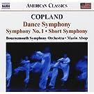 Copland : Dance Symphonie - Symphonie n�1 - Short Symphony