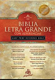 RVR 1960 Giant Print Reference Bible (Black Imitation Leather) (Spanish Edition)
