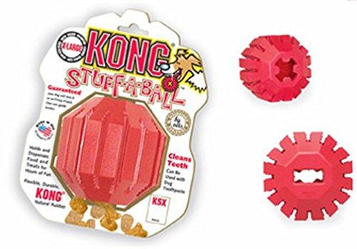 KONG Dental Stuff-a-ball LARGE 15-30 KG gioco per cani pulizia dentI