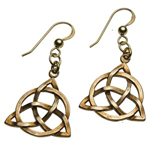 Delicate Triquetra Trinity Knot Earrings on French Hooks