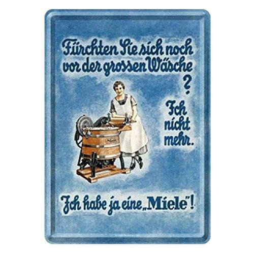 Miele Reklame Blechpostkarte 10 x 14 cm Mini Blechschild Miele