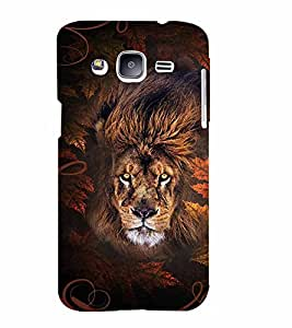PrintVisa Animal Lion Print & Pattern 3D Hard Polycarbonate Designer Back Case Cover for Samsung Galaxy J2