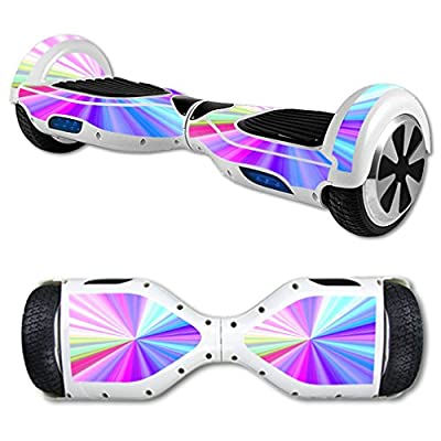 MightySkins Protective Vinyl Skin Decal for Hoverboard Self Balancing Scooter mini hover 2 wheel unicycle wrap cover sticker Rainbow Zoom
